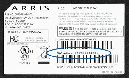 Arris VIP2502 Reference Guide | MTS
