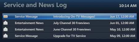 On-TV Messaging User Guide   MTS