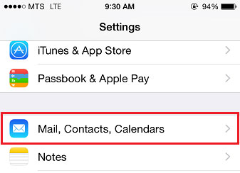 Bell net email settings ipad