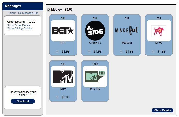 Change TV channel packages | MTS