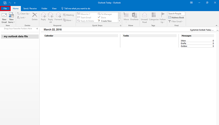 how to add an email address in 2016 outlook